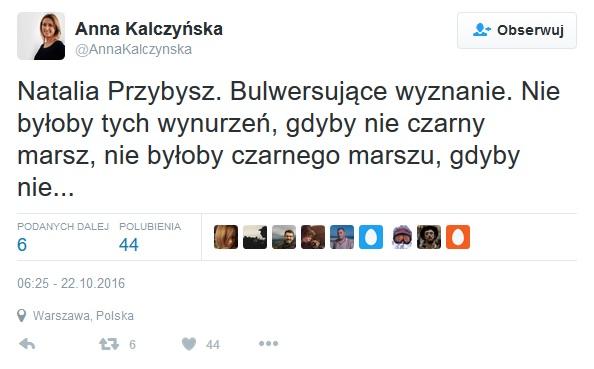 Fot. Screen Twitter Anna Kalczyńska