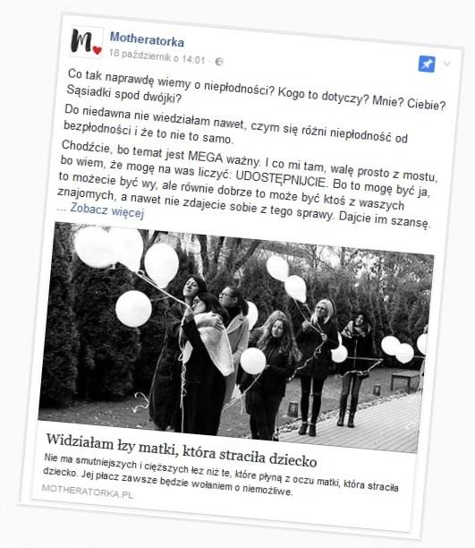 Screen Facebook Motheratorka.pl