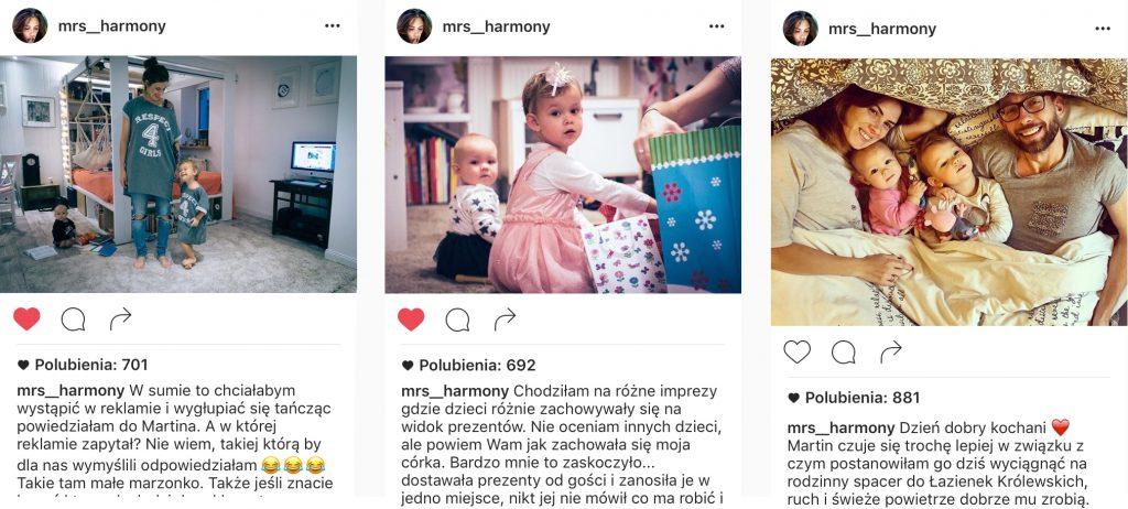 Rodzina, którą musisz poznać - Kids & Harmony / Fot. Screen Instagram mrs_harmony