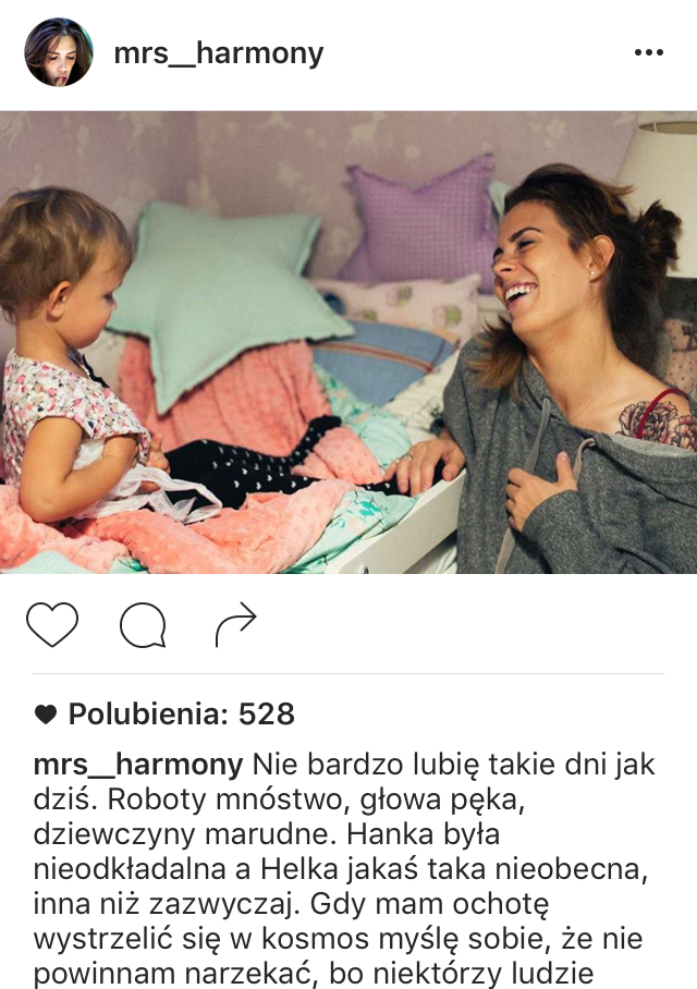 Fot. Screen Instagram mrs_harmony