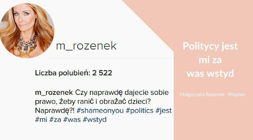fot. screen z IG Małgorzaty Rozenek-Majdan