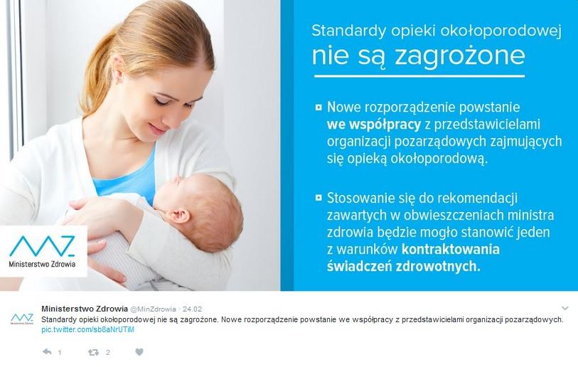 Fot. Twitter Ministerstwo Zdrowia