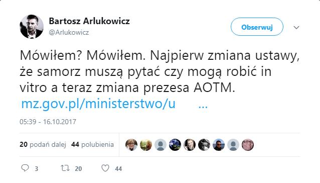 Twitter - Bartosz Arłukowicz