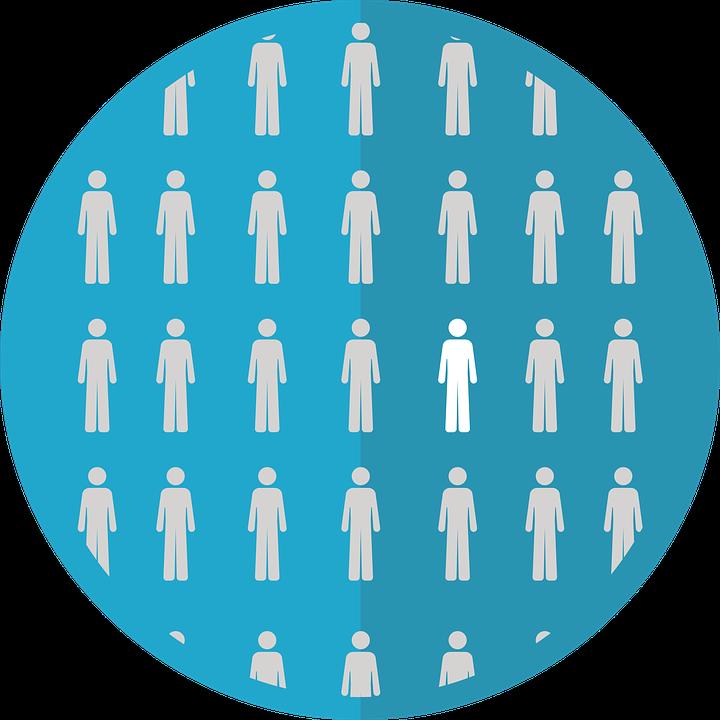 Piktogram: grupa ludzi, z której wybrano jednego /Ilustracja do tekstu: Choroby rzadkie. Co o nich wiesz?