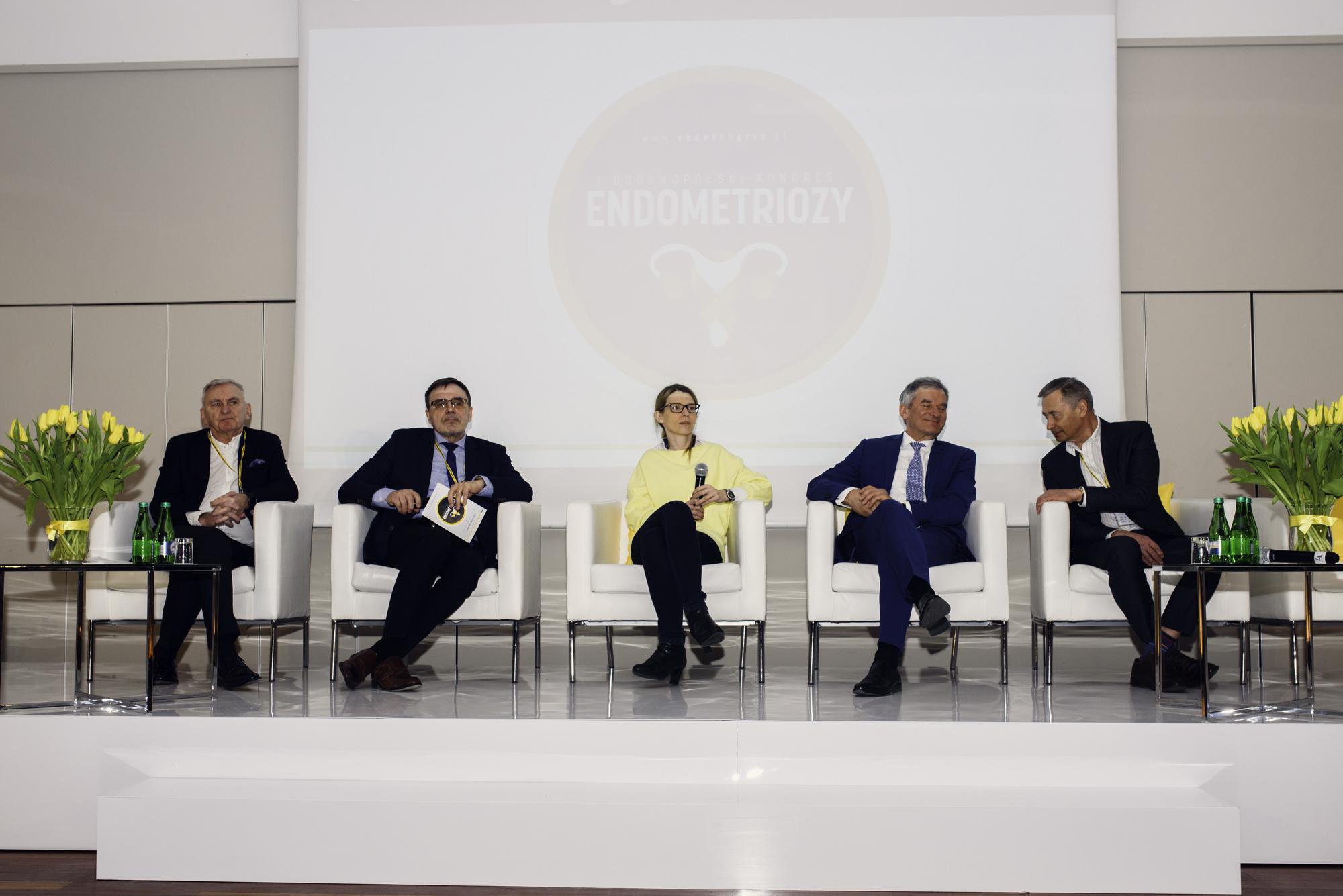 Eksperci podczas panelu dyskusyjnego, I Ogólnopolski Kongres Endometriozy
