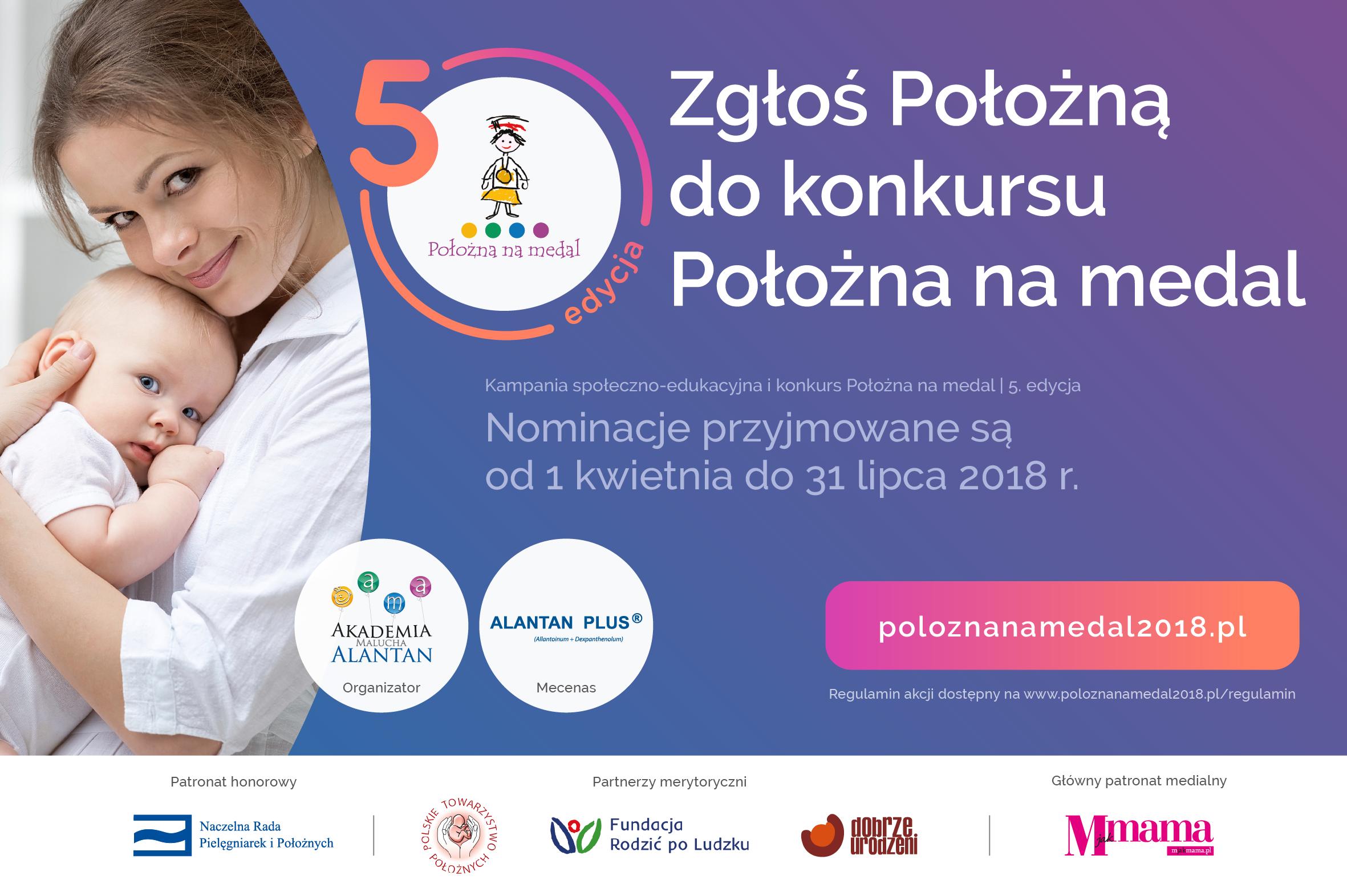 Plakat kampanii Położna na medal 2018