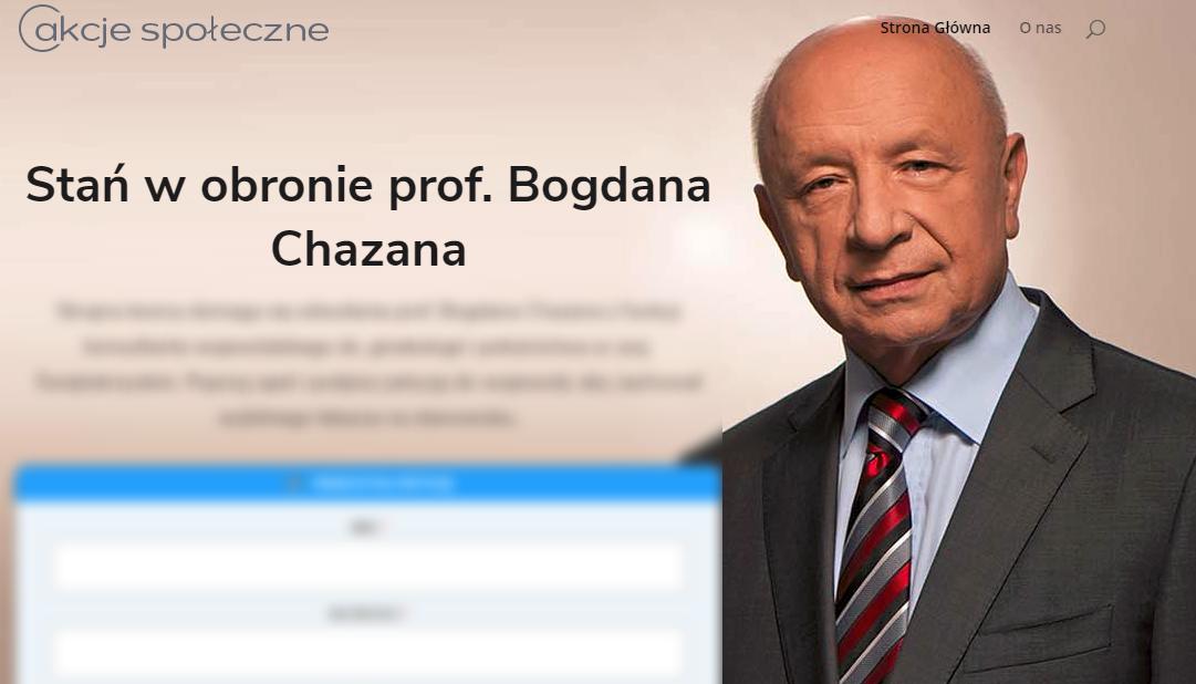 """Kontrowersyjna """"akcja społeczna"""" w obronie prof. Chazana na akcjespoleczne.pl"""