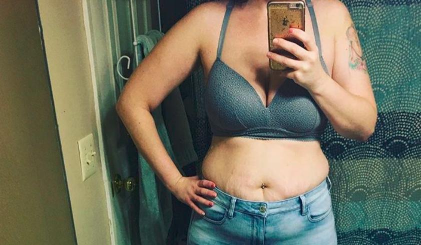 Selfie Jessiki McCoy, na którym widać ciało po stracie ciąży