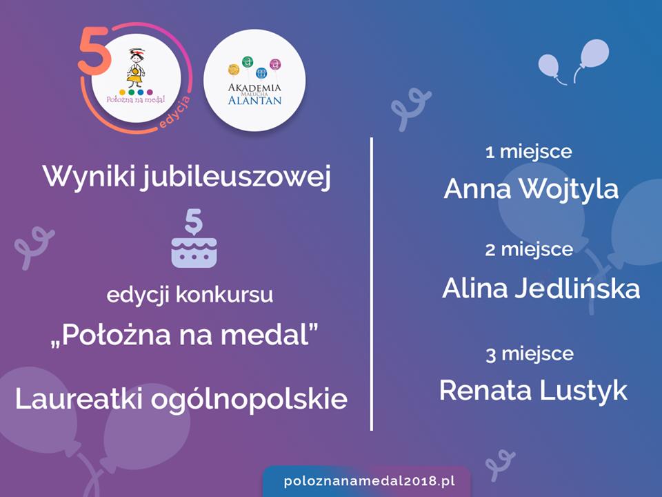 "Alina Jedlińska laureatką konkursu ""Położna na medal"""